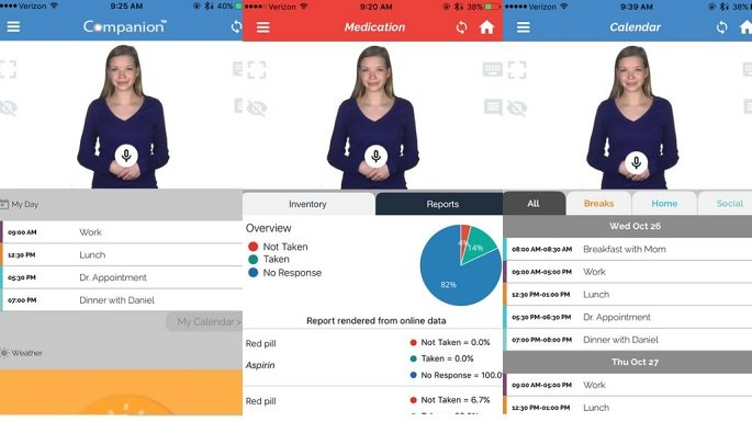 Autism App Identifier Companion features Abby - an Interactive Humanoid Companion