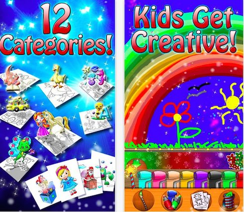 Paint Sparkles Draw - A Coloring App for kids with Autism