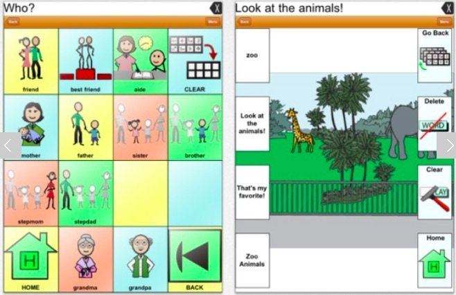 TouchChat HD apps for children with autism