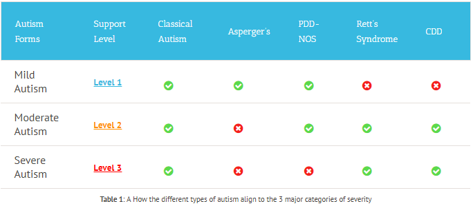 Autism Categories